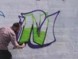 How To Draw The Graffiti Letter N