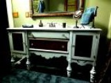 How To Turn A Salvaged Dresser Into A Bathroom Vanity