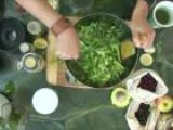 How To Make A Rapini, Bok Choy And Cucumber Salad