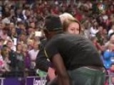 Is This London Olympics Worker Checking Out Usain&#39 S Bolt?
