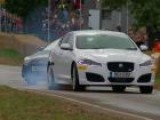 Jaguar XFR&#39 S Live Action Chase At Car-Fest