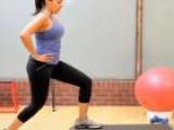 Leg Workout For Women: Step-Up With Kick Back