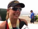Magali Tisseyre After The 2011 Oceanside 70.3 Pro