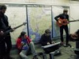Moon Taxi Performing Hypnus At The Chambers Street Subway Station