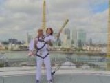 Nadia Comaneci Carries The Olympic Torch To New Heights In London