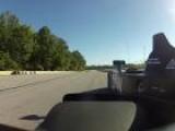 Nissan DeltaWing Driver POV In Atlanta
