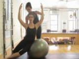 Pilates: Side Sit Ups On The Big Ball