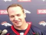 Peyton Manning Makes Fun Of Reporters Height