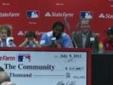 Prince Fielder Son Jadyn Hits Homer During All-Star Presser