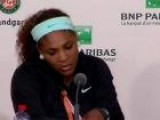 Serena Williams Talks About Losing In The First Round At The French Open
