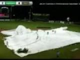 Tarp Blown Off Field During Storm At Minor League Baseball Game