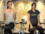 Working Out With Model Hilary Rhoda