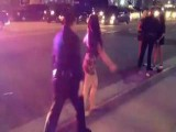 Cops Can Barely Contain Half Naked Girls Fighting On New Years