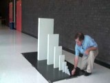 Cool Increasing Domino Size Chain Reaction