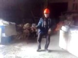 Construction Worker Dancing Like Michael Jackson