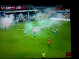 Crazy Drunken Soccer Fans Storm Field In Montenegro