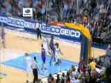 Fernandez No Look Backwards Alley-Oop Pass To Kenneth Faried