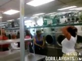 Fat Girls Fight At Laundromat