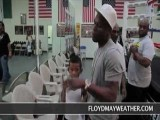 Floyd Mayweather And 50 Cent In The Gym