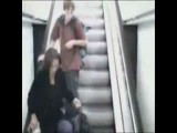 Indian Lady Falls Off Escalator