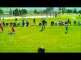 Kid Takes A Shot To The Head With A Soccer Ball Kick