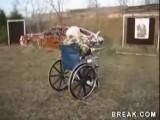 Old Woman Shoots Machine Gun