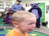 Purple Panda Scares School Children