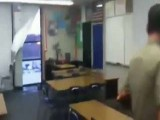 Turkey Crashes Classroom