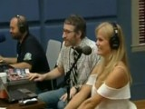SI Swimsuit Cover Model Brooklyn Decker Uses The Braun Series 7 Shaver To Shave One Of The Producers On The Dan