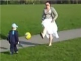 This Kid Was Just Kicking His Ball Around When Mom Had To Get Involved. However, As This Video Shows, Kids Often