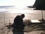 Using A Primitive Form Of Sand-casting This Dude Creates A Pewter Stool By Hand At The Beach