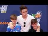 Brooklyn Beckham Takes His Little Brothers To The Nickelodeon Sports Awards