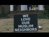 Blacksburg Man Makes Sign To Support Muslim Neighbors