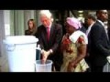 Clinton In Ebola-hit Liberia Urges Training Of Health Workers