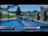 Dog Drives Truck Into Pool
