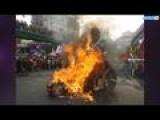 Filipino Protesters Burn Effigy Of Barack Obama