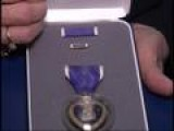 Graves Presents Purple Heart