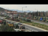 Greek Farmers Block Roads In Protest Against Reforms