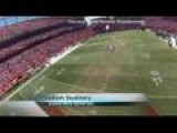 Helmet Cam Video: Skydivers Jump Into Mile High Stadium
