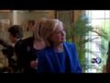 Hillary Clinton Joins A House Party In Sioux City
