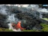 Lava Flow From Hawaii Volcano Just 100 Yards From Nearest Residence