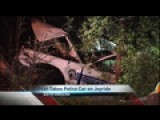 Man Steals Cop Car, Crashes In The Woods