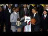 Obama Honors NBA Champion Miami Heat