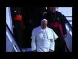 Pope Arrives In Santiago De Cuba
