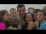 Soldier Surprises Student Pen Pals