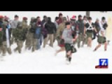 Students At Virginia Tech Have Fun During Annual Snowball Fi