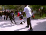 Shaq Joins Officer In Game Of Pickup Basketball
