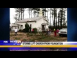 Storms Lift Church From Foundation