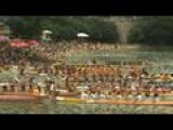 Thousands Paddle Up To Celebrate Hong Kong Dragon Boat Festival