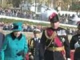 The Queen Walks In A Sea Of Poppies On Tower Of London Visit